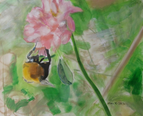 Bumblebee, 50 x 70 cm, 2013